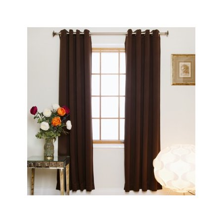 Red Barrel Studio Vitagliano Nickel Top Solid Blackout Thermal Grommet Curtain Panels (Set of