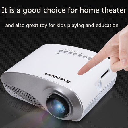Tft Contrast Ratio (LED/LCD Portable LCD TFT Mini Multimedia Projector AV /USB/VGA/HDMI/SD Home Theater Contrast Ratio: 1000:1 480*320 for DVD PC USB )