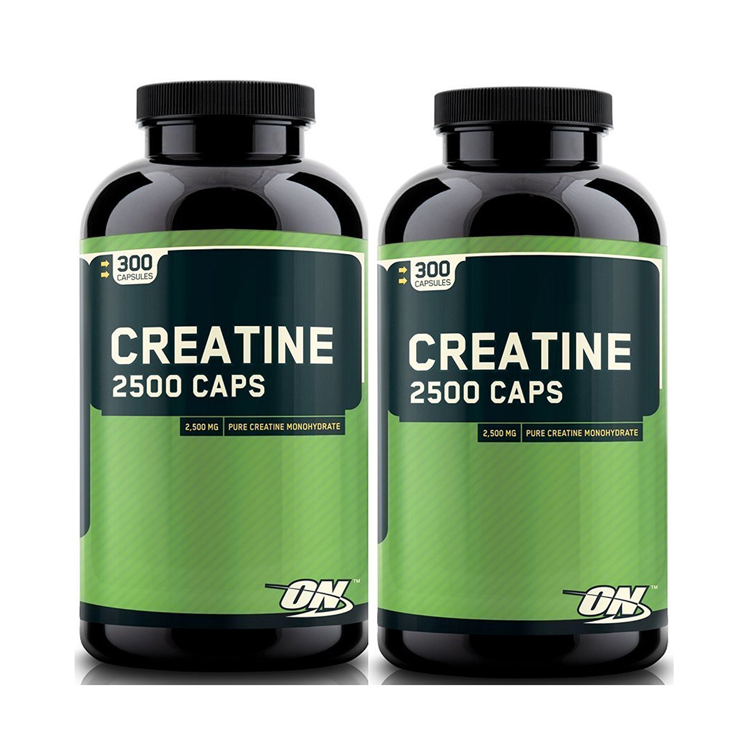 Optimum Nutrition Creatine 2500mg, 300 Capsules x 2 packs