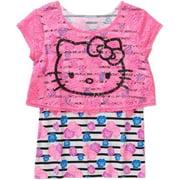 Hello Kitty Ap Hk Head Lace S/s 2pc Top