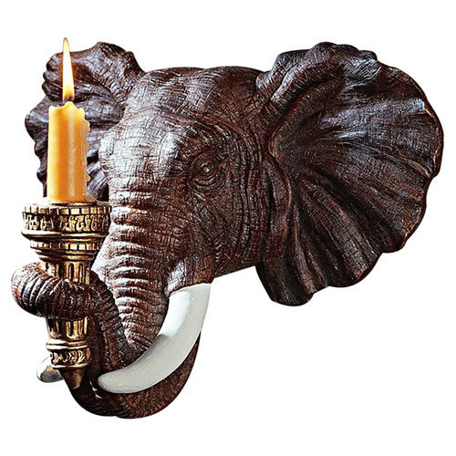 Design Toscano Elephant Wall Sconce (Set of 2) by Design Toscano