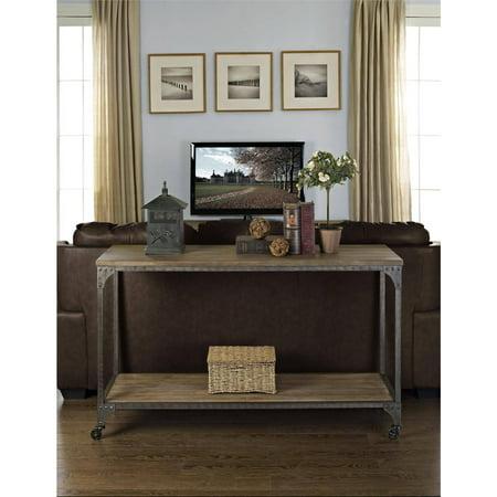 Ameriwood Home Cecil Wood Veneer Console Table, Rustic Medium Oak ()