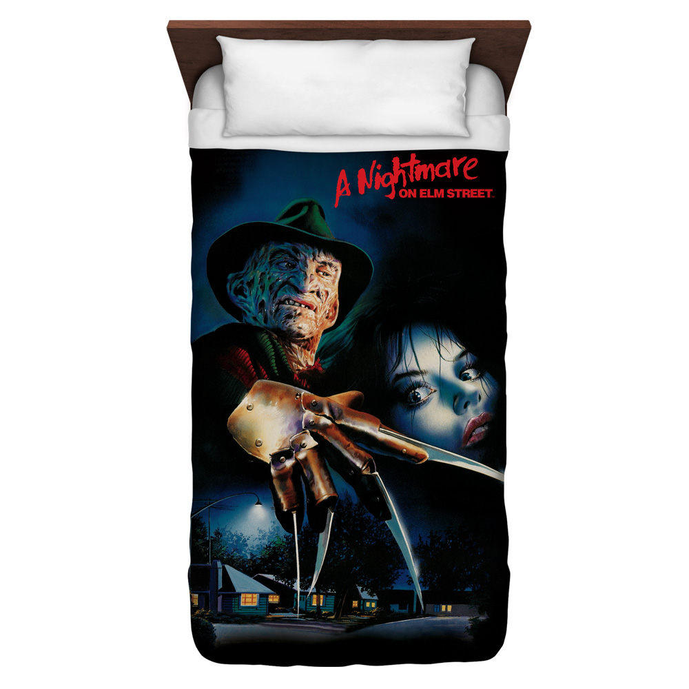 Nightmare On Elm Street Freddy Poster Twin Duvet Cover White 68X88