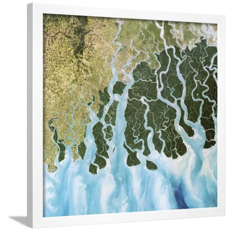 Ganges River Delta, India Framed Print Wall Art By PLANETOBSERVER - 5 Rivers Delta Halloween