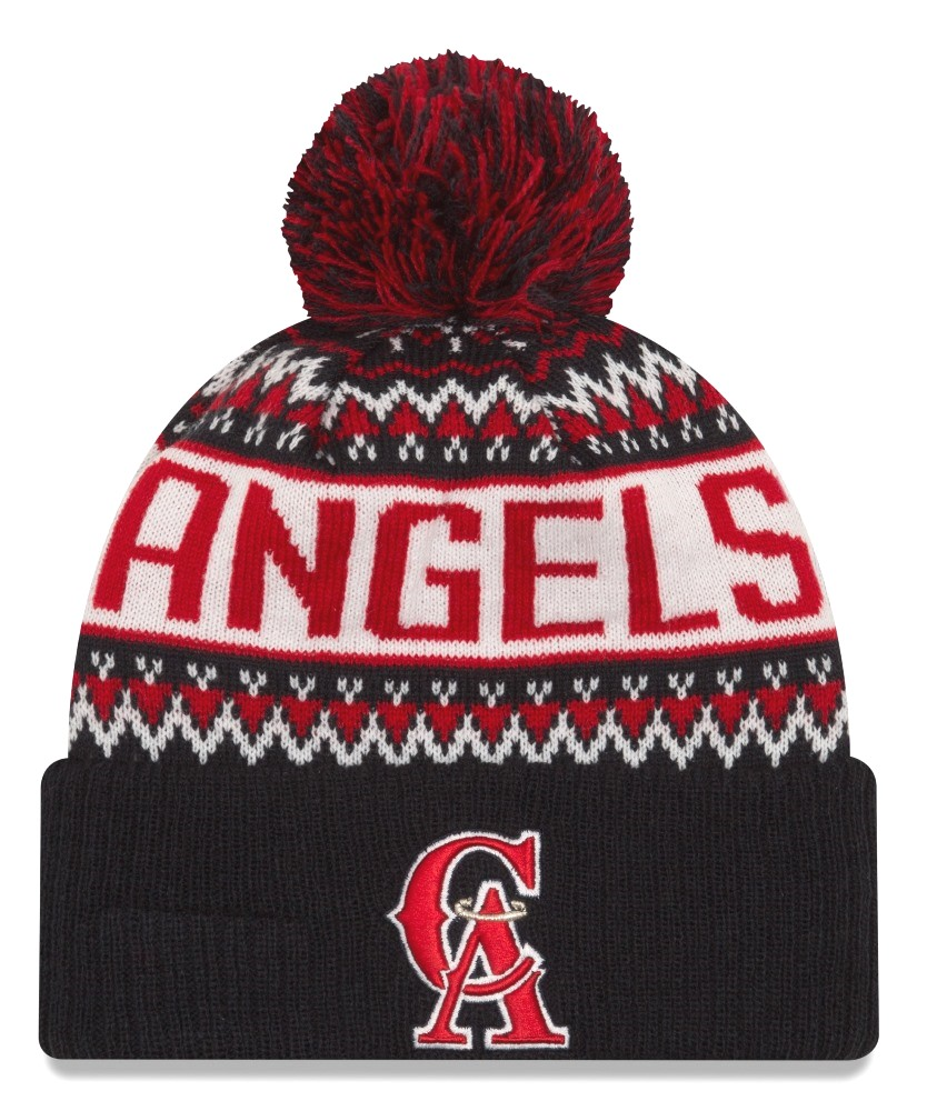 big sale 75878 77595 ... inexpensive california angels new era mlb cooperstown wintry pom cuffed knit  hat 3632a 7ad57
