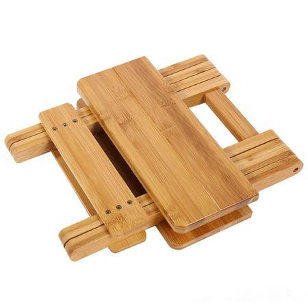 Ejoyous Bambou pliant tabouret Portable ménage réel en bois chaise de pêche extérieure pliable petite chaise, tabouret pliable, tabouret en bambou - image 3 de 6