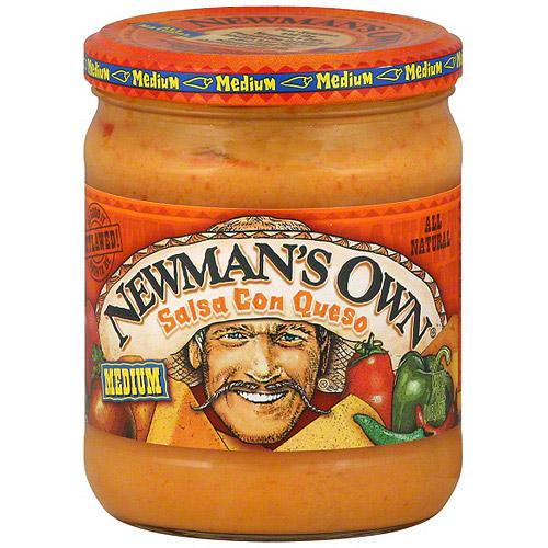 Newman's Own Con Queso Medium Salsa, 16 oz (Pack of 12)