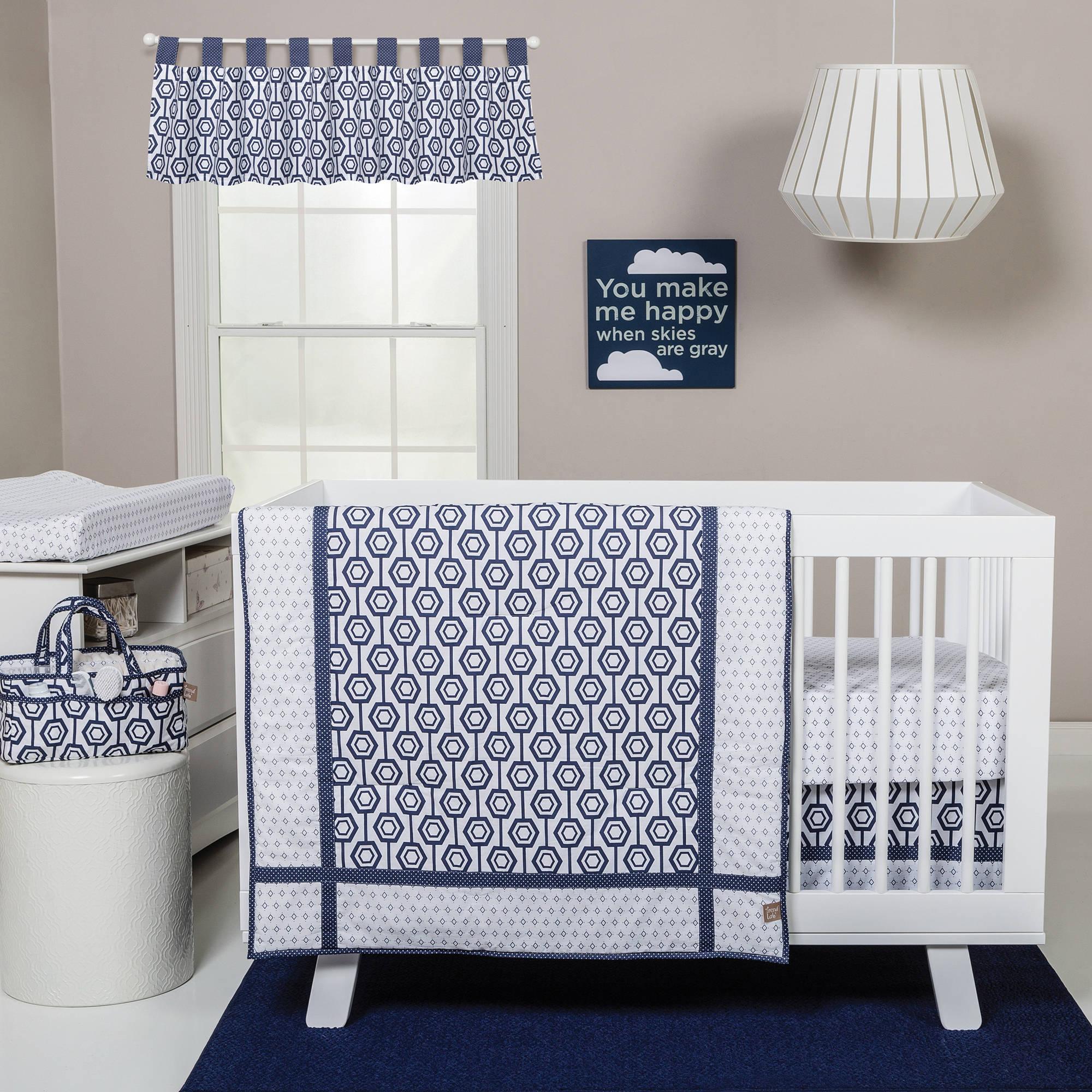 Trend Lab Hexagon 3-Piece Crib Bedding Set