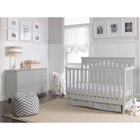 Fisher-Price Ayden 4-in-1 Convertible Crib Collection, Misty Grey
