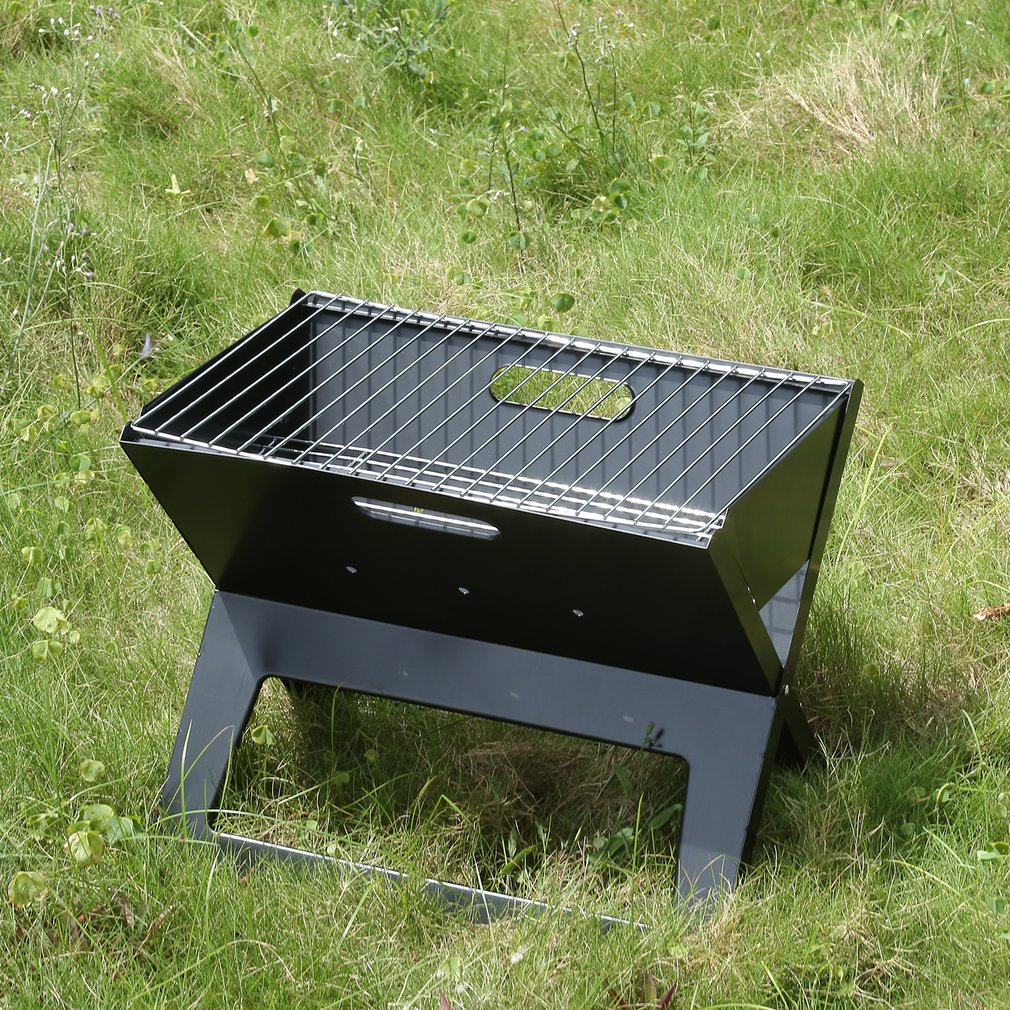 Portable Charcoal Barbecue BBQ Grill Outdoor Camping Cooker Bars Smoker