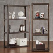 Tribecca Home Galena Industrial Modern Rustic Iron Bookcase Media Tower