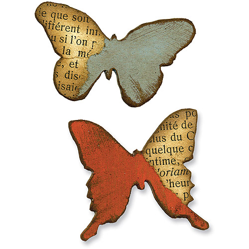 Sizzix Movers & Shapers Magnetic Die Set 2PK - Mini Butterflies Multi-Colored
