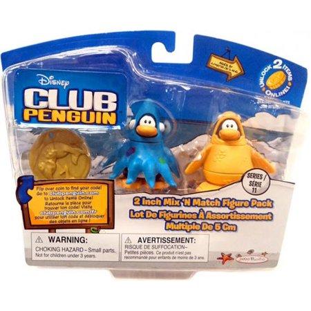 Club Penguin Mix 'N Match Series 11 Squidzoid & 12th Fish Mini Figure Set