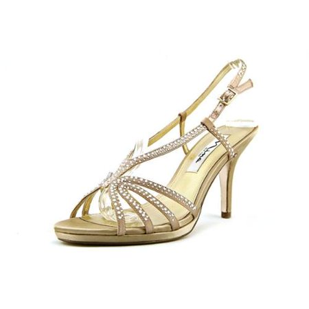 Womens Nina Bobbie Evening Slingback Dress Sandals - Champage