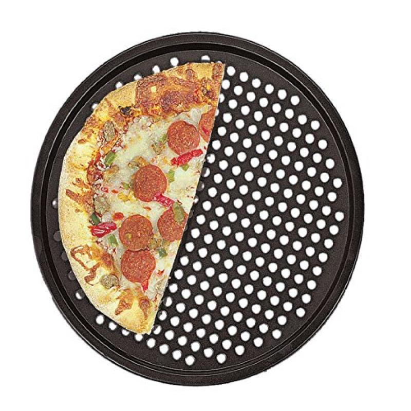 "Fox Run Nonstick 14"" Pizza Crust Crisper Pan Homemade Fro..."
