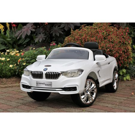 BMW 4-Series Kids Dual Motor Ride-On Car White Licensed Electric 12V with Remote ()
