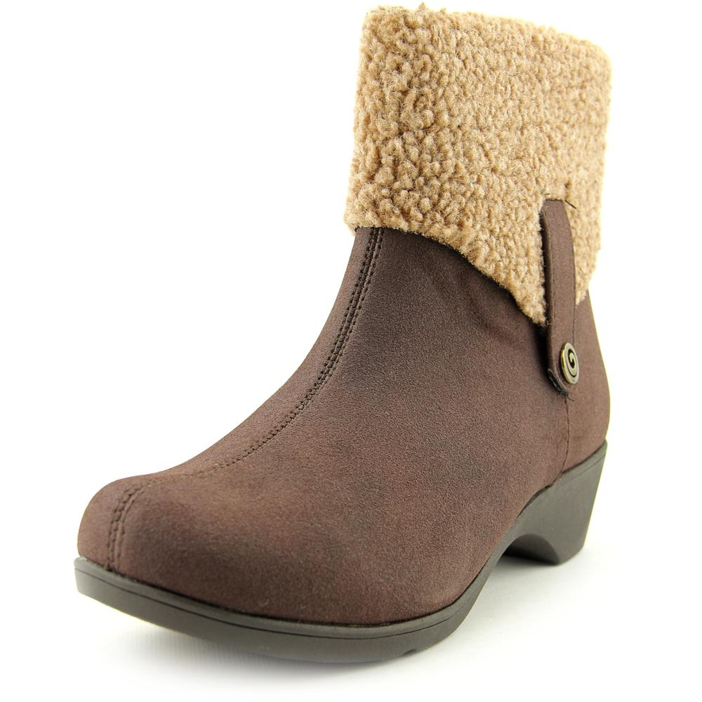 Soft Style by Hush Puppies Kendria Women W Round Toe Synthetic Brown Ankle Boot