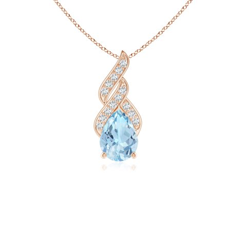 5ad60282b Angara - Valentine Jewelry Gift - Solitaire Pear-Shaped Aquamarine Flame  Pendant in 14K Rose Gold (7x5mm Aquamarine) - SP0466AQD-RG-AAA-7x5 -  Walmart.com