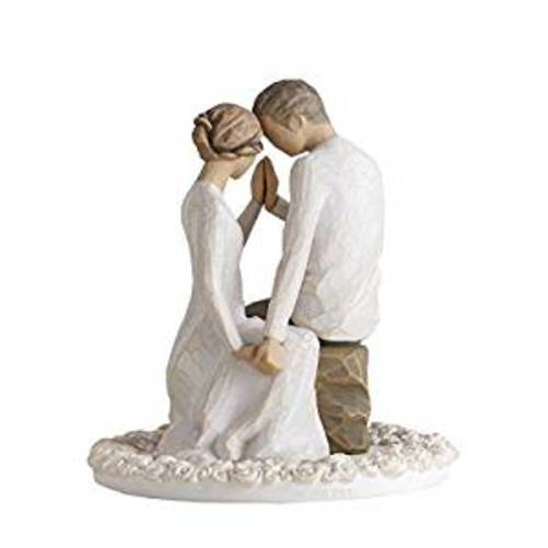 Willow Tree Around You Bride and Groom Wedding Cake Topper Figurine 27342 New