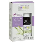Aura Cacia Tea Tree Essential Oil, Lavender, 0.5 Fluid Ounce