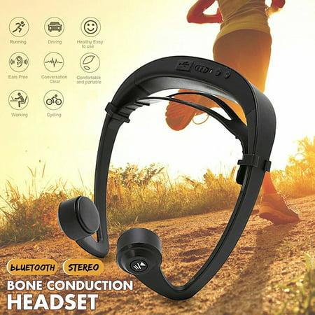 Open Ear Headset Bone Conduction Wireless Headphones bluetooth 4.2 Stereo Open Ear...