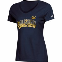 Women's Russell Athletic Navy Cal Bears Arch V-Neck T-Shirt