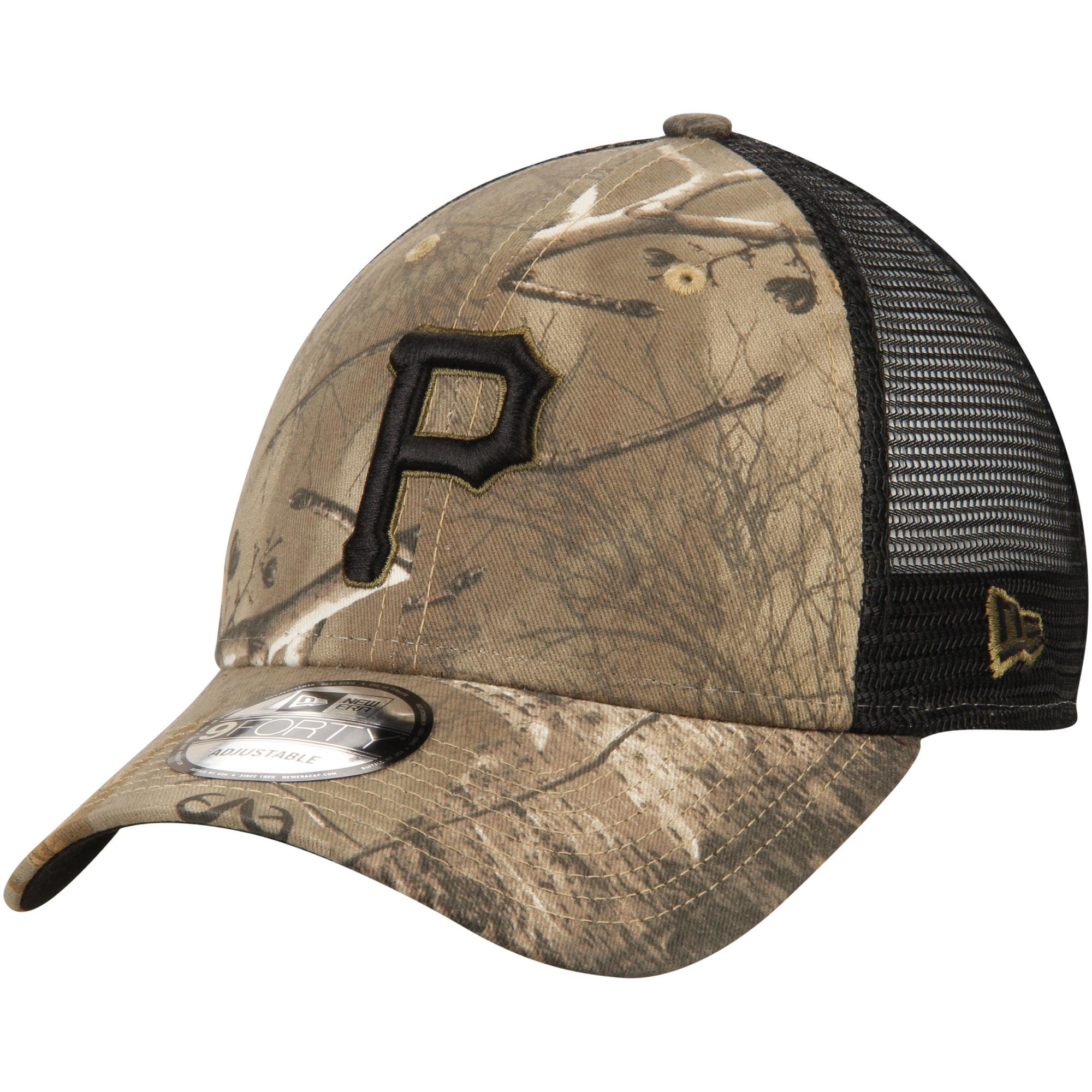 Pittsburgh Pirates New Era Realtree Trucker 9FORTY Adjustable Snapback Hat - Camo/Black - OSFA