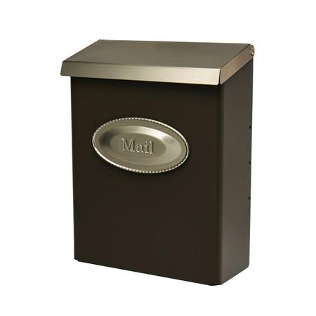 Gibraltar Mailboxes Designer Locking Galvanized Steel Bronze Wall Mount Mailbox, DVKPBZ00