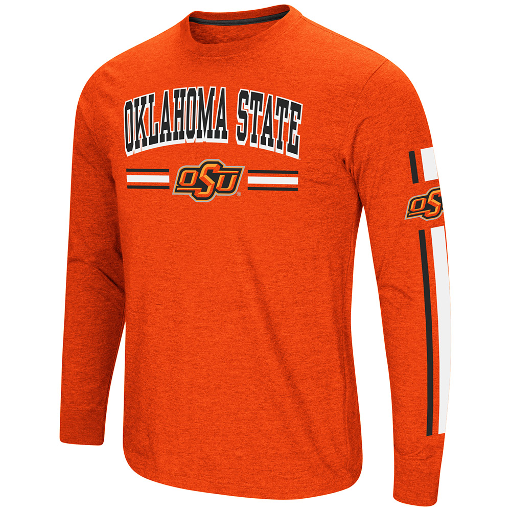 "Oklahoma State Cowboys NCAA ""Touchdown"" Men's Dual Blend Long Sleeve T-Shirt"