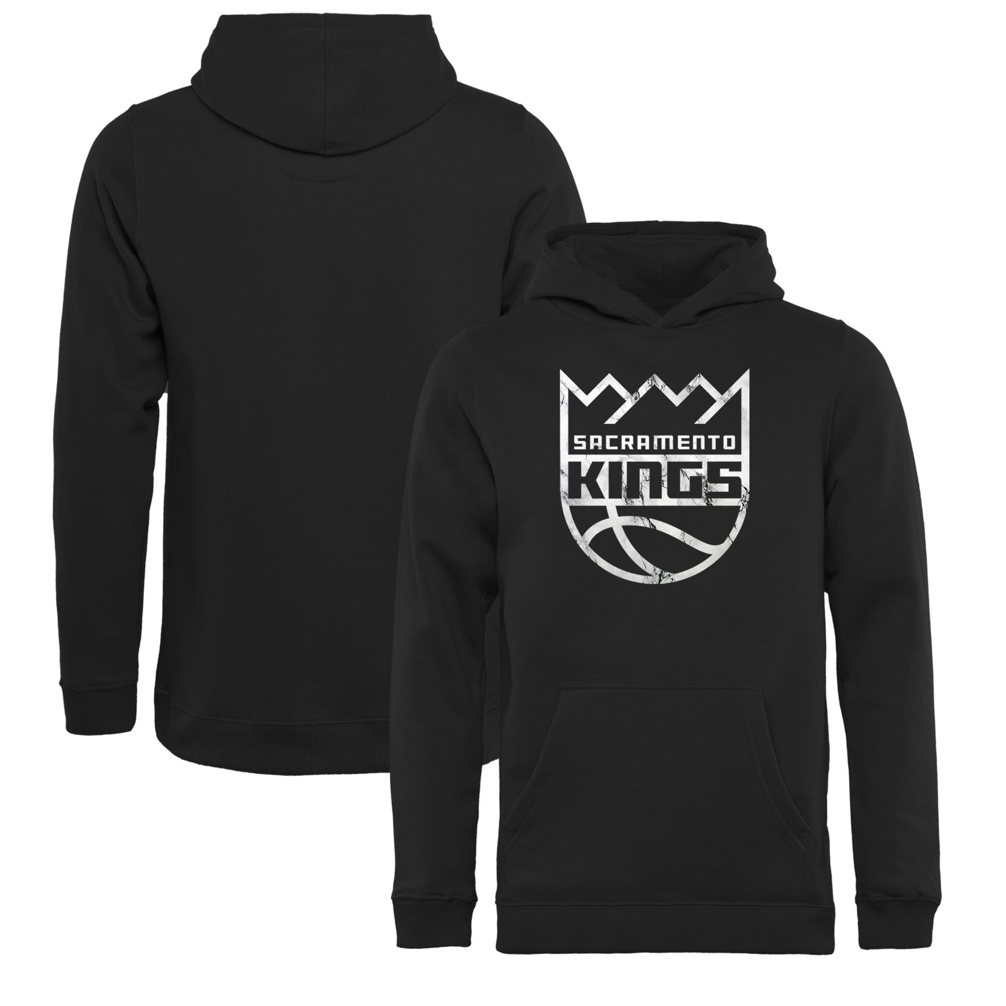 Sacramento Kings Fanatics Branded Youth Black Marble Logo Pullover Hoodie
