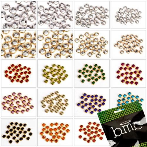BMC Rhinestone+Casings Nail Art Studs Accessory Collection-Multiple Sizes/Colors