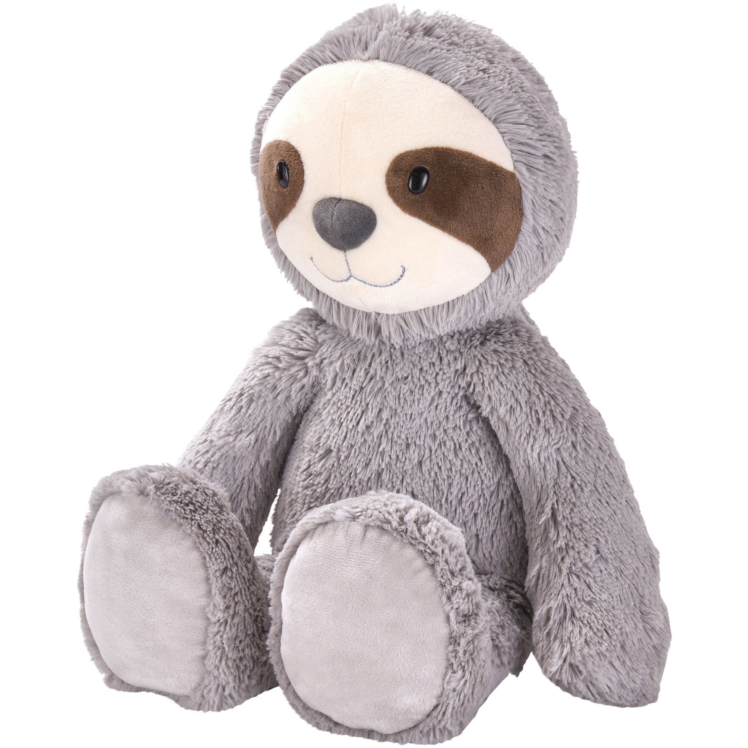 "Spark. create. imagine. 14"" large smiling sloth plush animal"