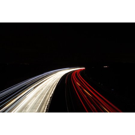 LAMINATED POSTER Light Turbo Highway Speed Autos Truck Fast Poster 24x16 Adhesive Decal