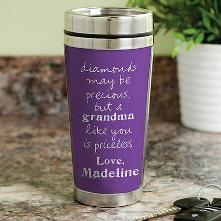 Personalized Sandra Magsamen Travel Coffee Mug For Grandma - Travel Mug Personalized