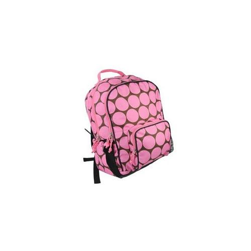 Big Dots - Pink Large Backpack