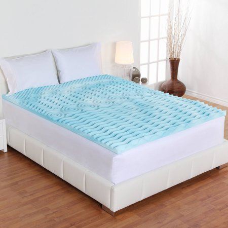 Foam Mattress Bed Pad - Authentic Comfort 2-Inch Orthopedic 5-Zone Foam Mattress Topper