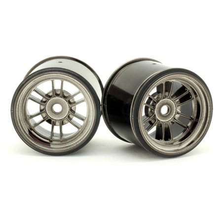 Integy RC Toy Model Hop-ups RIDE-25003 RIDE Black-Luster Rear Wheels for HPI Formula Ten w/ 63mm Rubber Tires