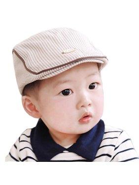 561f1e28 Product Image Cute Baby Infant Boy Girl Stripe Beret Cap Peaked Baseball Hat  BU