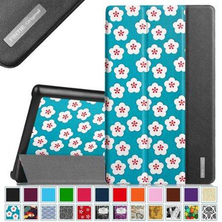 Fire Hd 8 Smartshell Case   Fintie Ultra Slim Lightweight Cover Wake   Sleep For Amazon Fire Hd 8 2015  Floral Blue