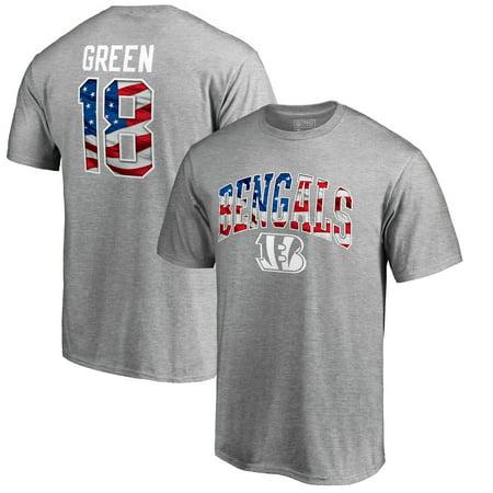 A.J. Green Cincinnati Bengals NFL Pro Line by Fanatics Branded Banner Wave Name & Number T-Shirt - Heathered Gray Cincinnati Bengals Autographed Jerseys