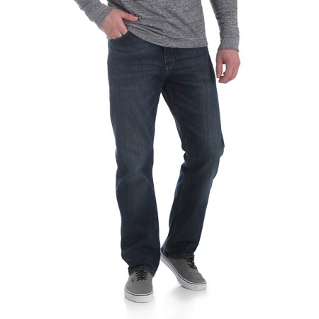 Wrangler Men's 5 Star Relaxed Fit Jean with Flex Button Down Cotton Jeans