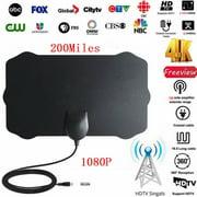 200 Miles Range Digital TV Antenna 1080P HD Skywire 4K Antena Digital Indoor HDTV