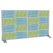 Screen Divider in Blue and Green Squares and Lines