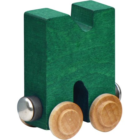 Name Train - Bright Color Childrens Wooden Trains Letter N (Name Trains Bright Finish)