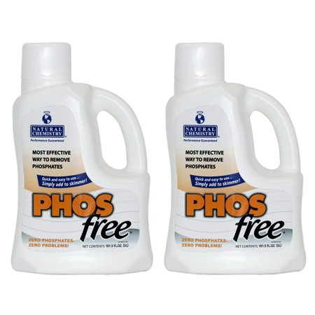 2 Natural Chemistry 05121 Swimming Pool Spa Phosfree Phosphate Remover 3l Each