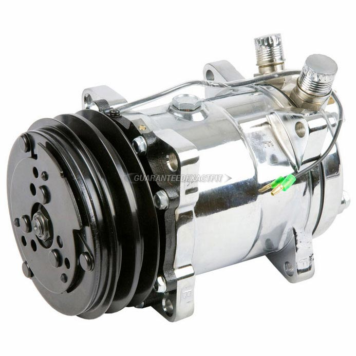 BuyAutoParts 60-01769NA New AC Compressor /& 2 Groove A//C Clutch Replaces Sanden SD508 SD5H14 4509 4510