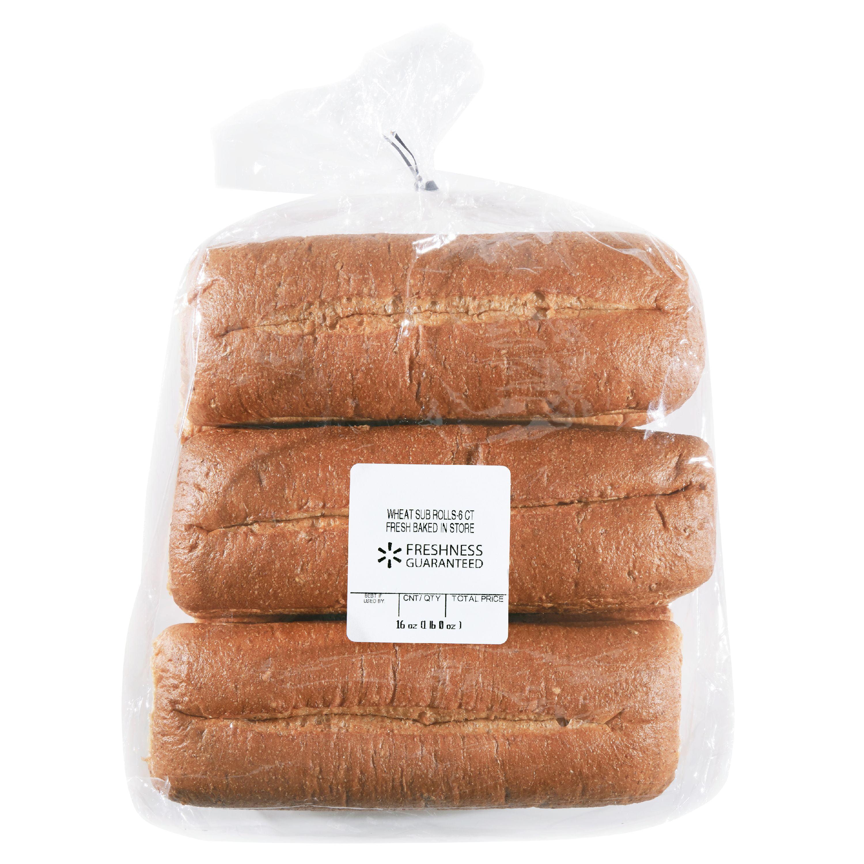 Freshness Guaranteed Wheat Sub Rolls, 16 oz, 6 Count