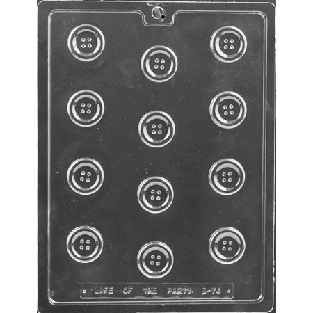 Button Mold (Bite Size Buttons Chocolate Mold - B074 - Includes Melting & Chocolate Molding)