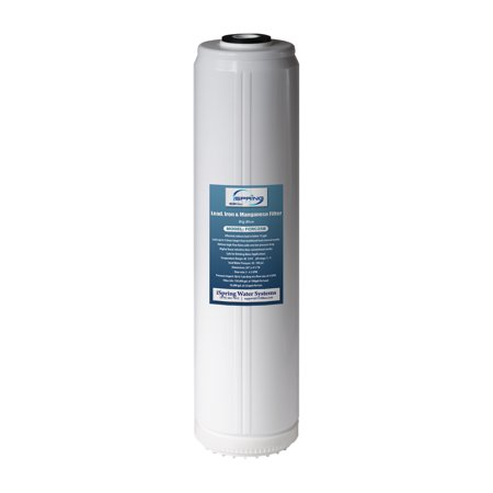 iSpring #FCRC25B Lead and Iron Reducing Replacement Water Filter, Ultra High Capacity 4.5