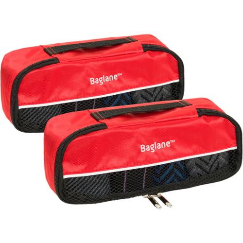 Baglane Red TechLife Nylon Luggage Travel Packing Cube Bags -2pc Set (X-Small)